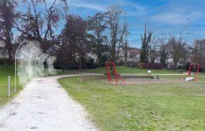 Brumisateurs Aj3m au Parc du Drapeau à DIjon